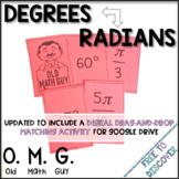Radians and Degrees Card Game