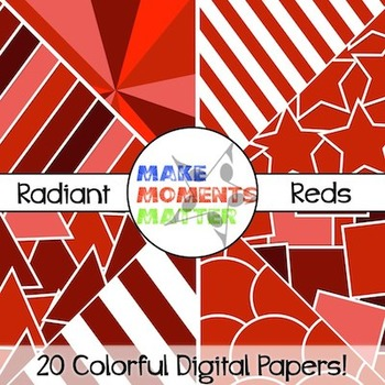 Radiant Reds - Digital Paper Pack