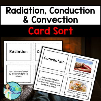 Radiation, Conduction & Convection Card Sort