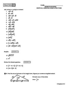 1-4 Radical Algebra