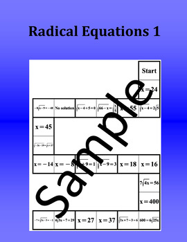 Radical Equations 1 – Math Puzzle