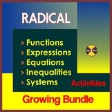 Radical Equations Activities BUNDLE