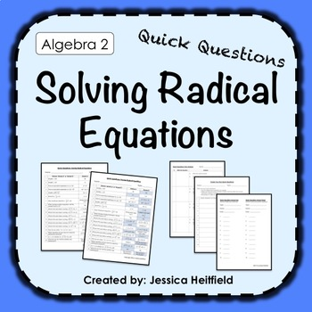 Radical Equations Activity: Fix Common Mistakes!