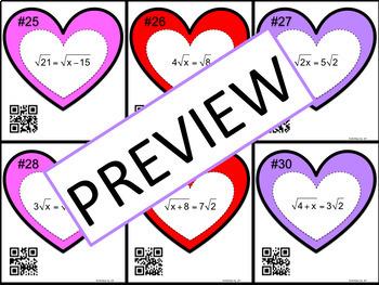 Radical Equations (Basic) Task Cards