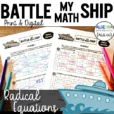 Solve Radical Equations Activity - Battle My Math Ship Game