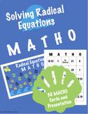 Solving Radical Equations Bingo