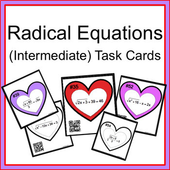 Radical Equations (Intermediate) Task Cards