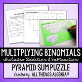 Multiplying Binomials Pyramid Sum Puzzle