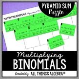 Multiplying Binomials Pyramid Sum Puzzle