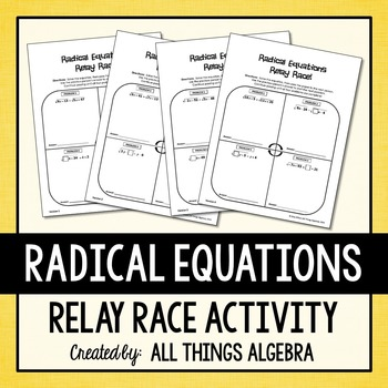 Radical Equations Relay Races