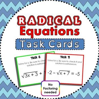 Radical Task Cards