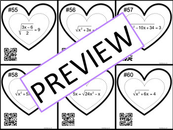 Radical Equations Task Cards (Full Set)