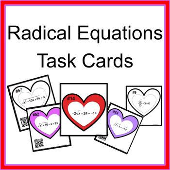 Radical Equations Task Cards (Full Set)