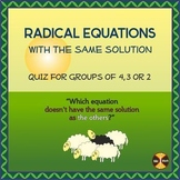 Radical Equations (Which ONE doesn't have the same solutio