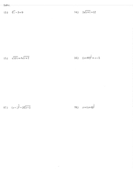 Radical Exponent form simplify solve