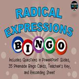 Radical Expressions BINGO