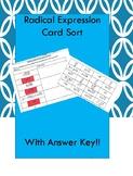 Radical Expressions Card Sort
