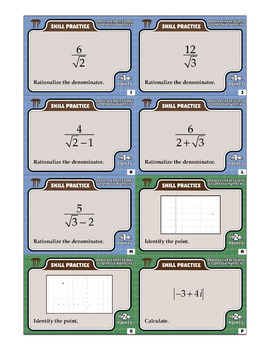 Radical Expressions & Complex Numbers -- Algebra 2 Curriculum Unit Bundle