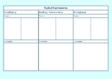 Radical Expressions Foldable Template