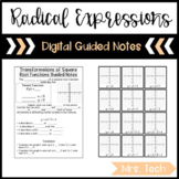 Radical Expressions, Function, and Equations Guided Notes