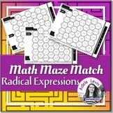 Radical Expressions (MATH MAZE MATCH)
