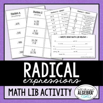 Radical Expressions Math Lib