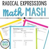 Radical Expressions Math MASH Activity