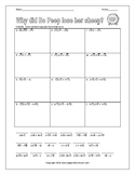 Multiplying Radicals with Distributive Property Worksheet