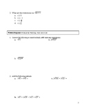 Radical Expressions Practice test