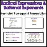 Radical Expressions & Rational Exponents Keynote/Powerpoint