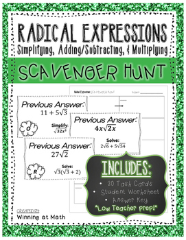 Radical Expressions: Simplifying, Adding/Subtracting, & Mu