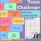 Radical Expressions (TEAM CHALLENGE task cards)
