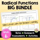Radical Functions BIG Bundle (Algebra 2 - Unit 6)