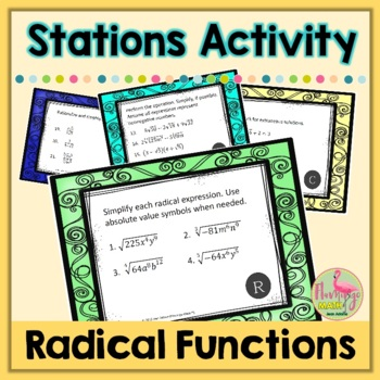 Algebra 2: Radical Functions Stations Activity