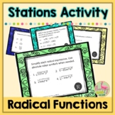 Radical Functions Stations Activity (Algebra 2 - Unit 6)
