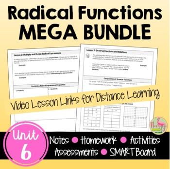 Algebra 2 Radical Functions Bundle