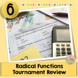 Radical Functions Tournament Review Activity