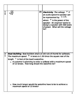 Radical Lessons and Worksheet