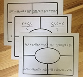 Radical Operations Placemats (Add/Subtract/Multiply/Divide)