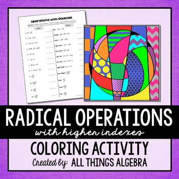 Radical Operations (with higher indexes) Coloring Activity