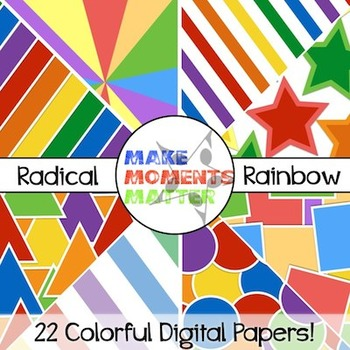 Radical Rainbow - Digital Paper Pack