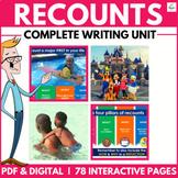 Radical Recount Writing Unit (Google Drive / Classroom / Digital)