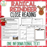 Christmas Reindeer Reading Comprehension Passage with Text Dependent Questions