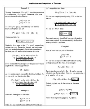 Radical and Composite Functions