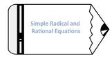 Radical and Rational Equations Scavenger Hunt