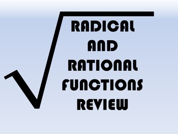 Radical and Rational Functions Unit Review Activity
