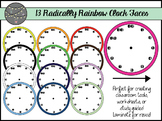 Radically Rainbow Clock Faces (Commercial Use)