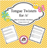 Tongue Twisters for /r/ (they are radically ridiculous)