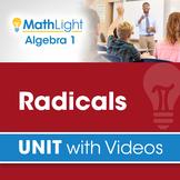 Radicals   Algebra 1 Unit with Videos   Good for Distance