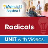Radicals | Algebra 1 Unit with Videos | Good for Distance